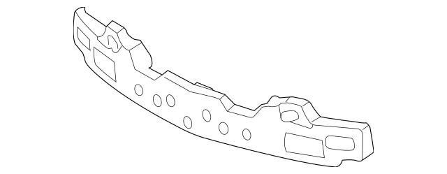 OEM NEW Genuine Front Bumper Impact Absorber 10-14 Kia
