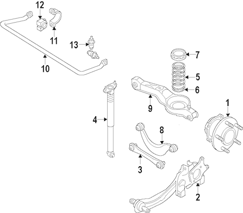 REAR SUSPENSION for 2008 Volvo XC70