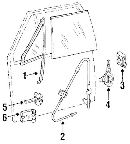 HARDWARE for 1995 Jeep Cherokee