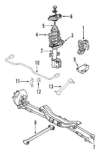 OEM Rear Suspension for 2008 Buick LaCrosse