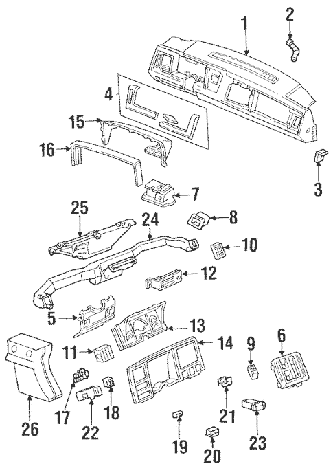 Instrument Panel Components for 1994 Chevrolet K1500