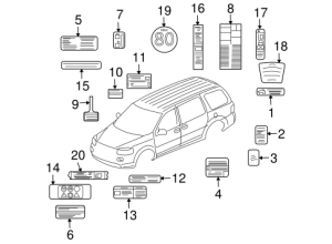Labels Parts for 2007 Buick Terraza   GM Parts Club