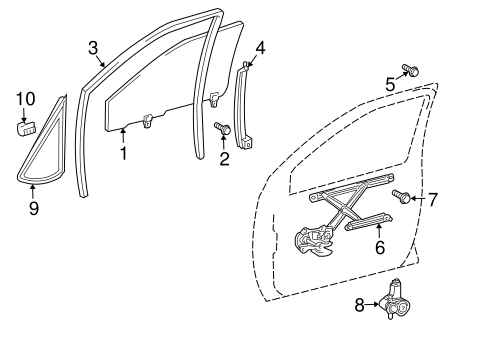Genuine OEM Rear Door Parts for 2007 Toyota Prius Base