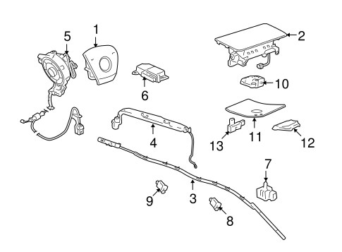 AIR BAG COMPONENTS Parts for 2012 Chevrolet Tahoe