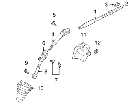 Shaft & Internal Components for 2001 Toyota Echo