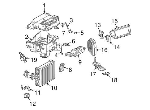 Chrysler HVAC Evaporator Components parts for a 2007