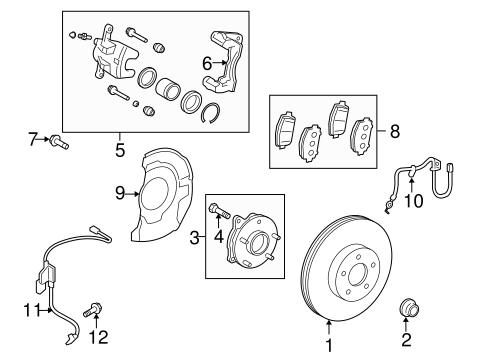 Genuine OEM Front Brakes Parts for 2008 Scion xB Base
