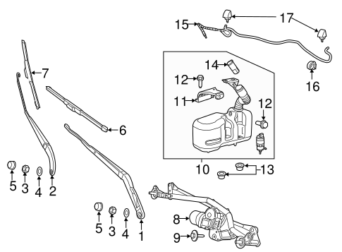 Wiper & Washer Components for 2015 Ram ProMaster 3500