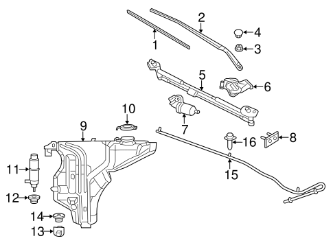 Wiper & Washer Components for 2015 Dodge Charger