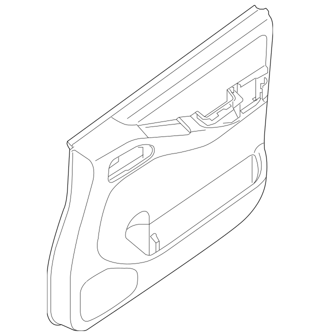 2008-2012 Nissan Pathfinder Door Trim Panel 80900-ZS31A