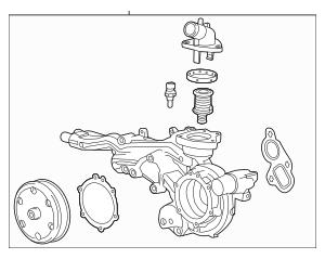 Genuine OEM 2014-2019 GM Water Pump Assembly 12685257
