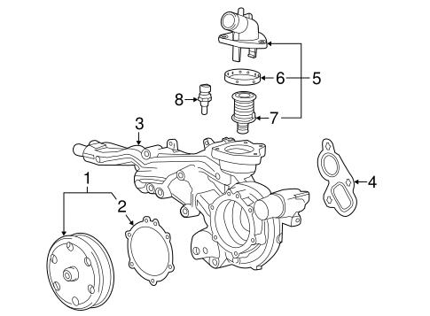 Water Pump for 2015 Chevrolet Tahoe