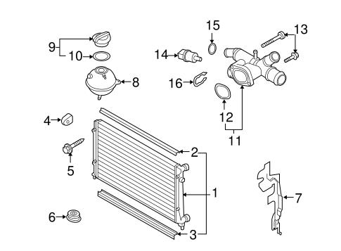 Radiator & Components for 2014 Volkswagen Jetta