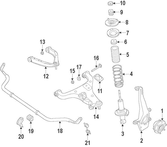 2016-2019 Nissan Titan XD Stabilizer Link 54618-EZ60A