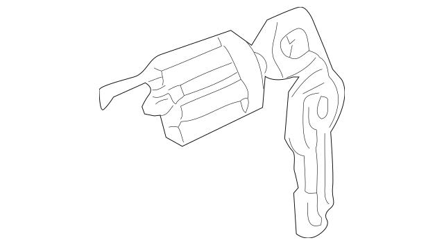 Genuine OEM Ignition Lock Cylinder Part# MN186419 Fits