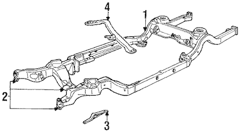 FRAME & COMPONENTS for 1996 Chevrolet Impala