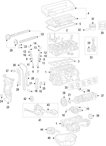 ENGINE PARTS for 2002 Toyota Camry