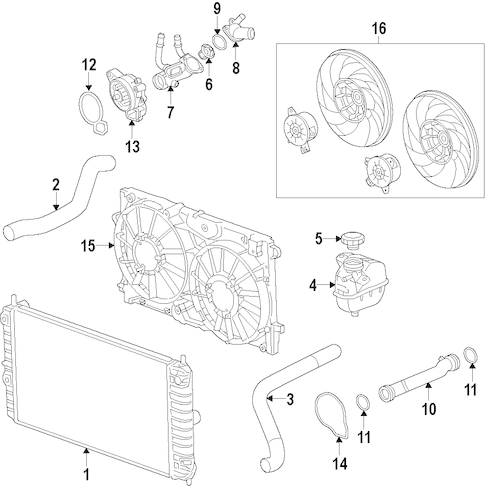 COOLING SYSTEM for 2011 Buick Regal