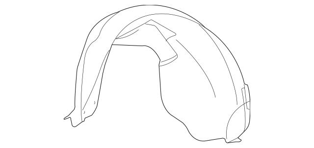 2004-2009 Cadillac SRX Wheelhouse Liner 25848126