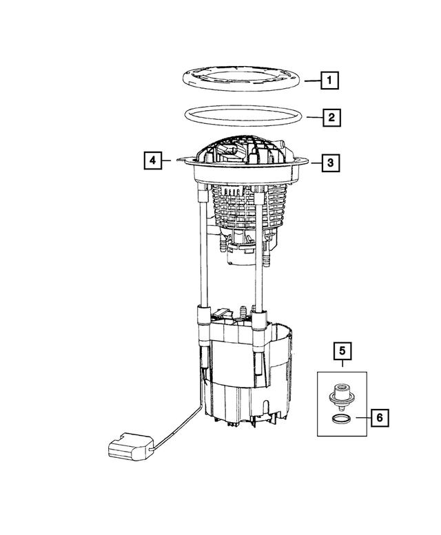 2008 Dodge Ram 1500 Fuel Pump/Level Unit Module Package