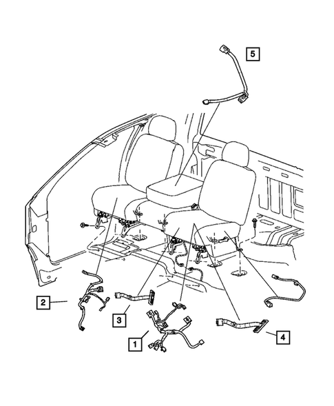 Wiring-Body and Accessories for 2008 Dodge Ram 1500