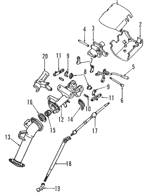Genuine OEM Steering Column Parts for 1993 Toyota Previa