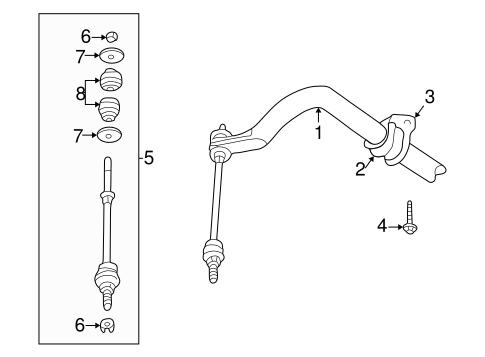 Stabilizer Bar & Components for 2004 Dodge Ram 1500 Parts