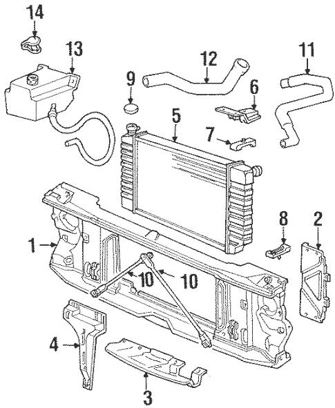 Radiator & Components for 1993 Chevrolet K1500 Pickup