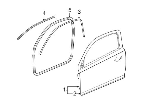 OEM 2009 Pontiac G5 Door & Components Parts