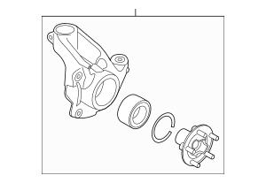 Genuine OEM Steering Knuckle Part# LR087153 Fits 2012-2018