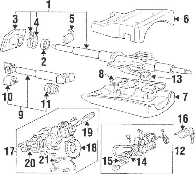 1994-1996 Mitsubishi Montero Lock Housing MB876354