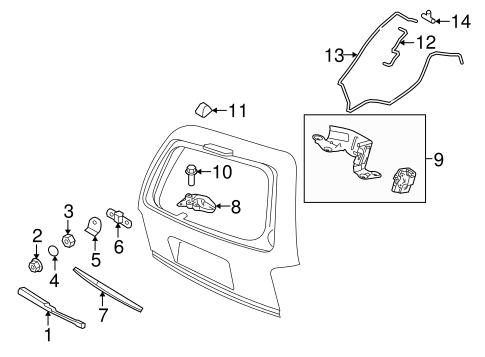 Wiper & Washer Components for 2014 Ford Expedition