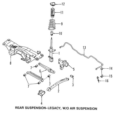 1998 Subaru Legacy Parts Manual