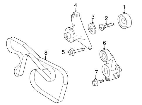 Belts & Pulleys for 2008 Dodge Sprinter 3500 Parts