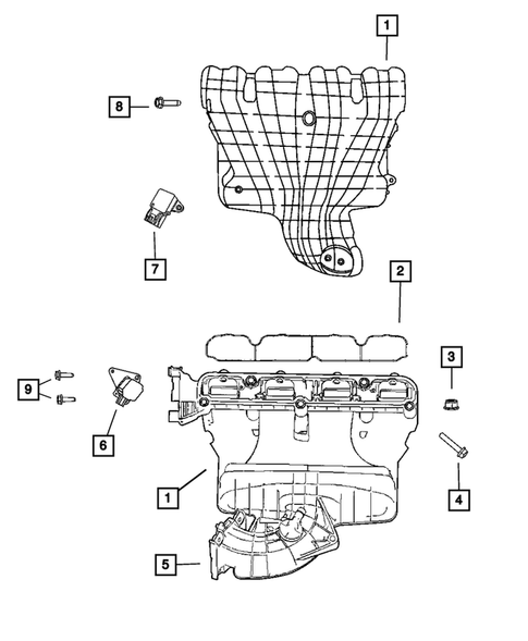 Manifolds and Vacuum Fittings for 2009 Jeep Compass