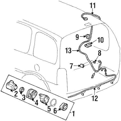 OEM ELECTRICAL COMPONENTS for 2003 Oldsmobile Silhouette