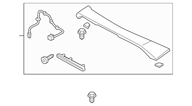 2013-2015 Honda CIVIC SEDAN Spoiler Assembly, Trunk *B561P