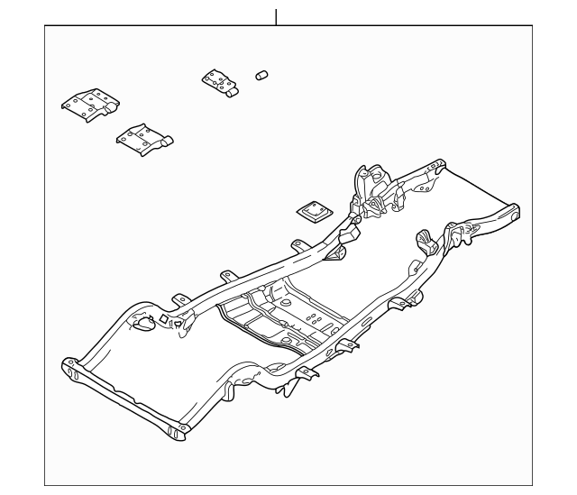 Frame Assembly for 2001 Jeep Wrangler|5140445AA : Genuine