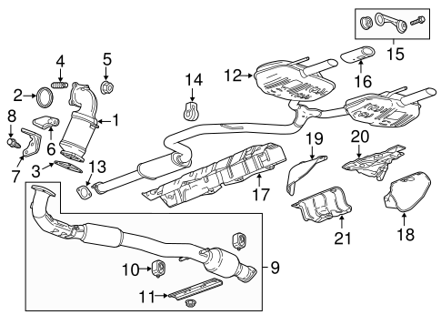 EXHAUST COMPONENTS for 2012 Buick Regal