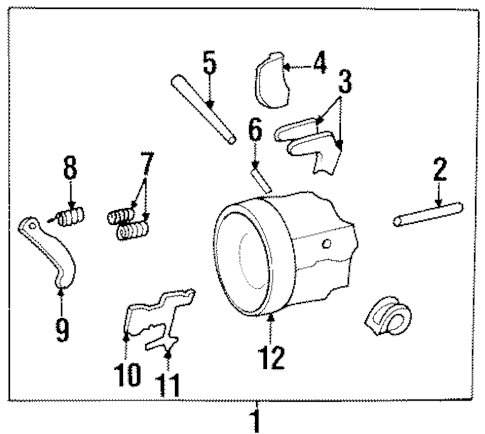 UPPER COMPONENTS Parts for 1999 Buick LeSabre