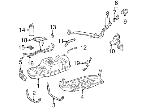 Fuel System Components for 2002 Toyota Sequoia