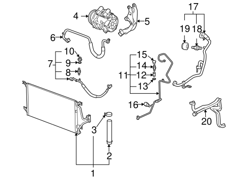 Condenser, Compressor & Lines Parts for 2007 Chevrolet