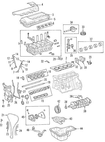 2005 Toyota Corolla Xrs Engine Parts Diagram. Toyota. Auto