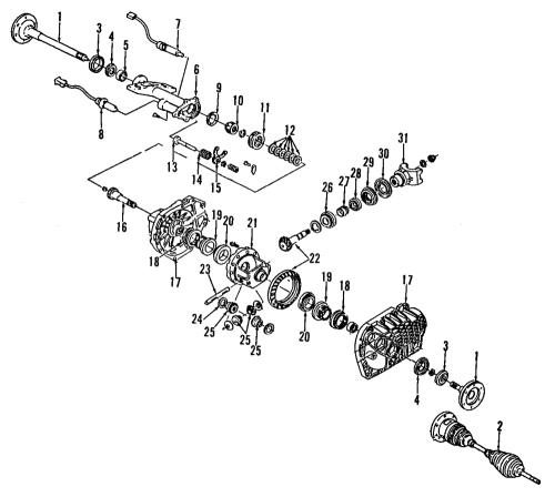 small resolution of genuine gm housing frt drv axle inr shf 12479320