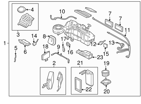 EVAPORATOR & HEATER COMPONENTS for 2005 Ford Expedition