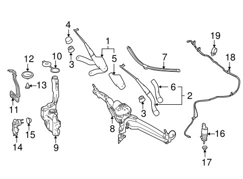 Wiper & Washer Components for 2014 Mercedes-Benz GL 450