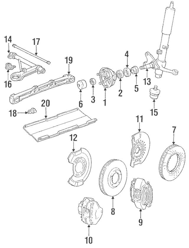 1984-1989 Porsche 911 Steering Knuckle 911-341-041-33