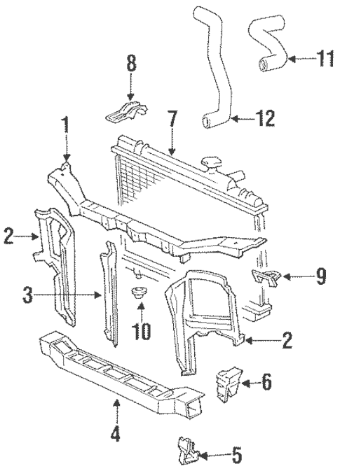 Genuine OEM Radiator Support Parts for 1991 Toyota Tercel