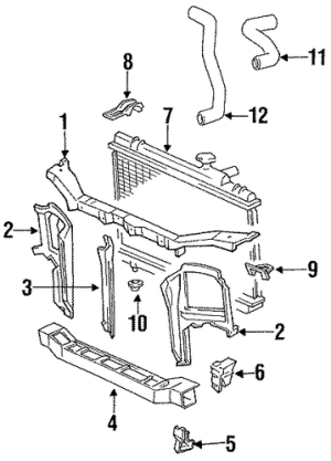 Genuine OEM Radiator & Components Parts for 1993 Toyota Tercel LE  Olathe Toyota Parts Center