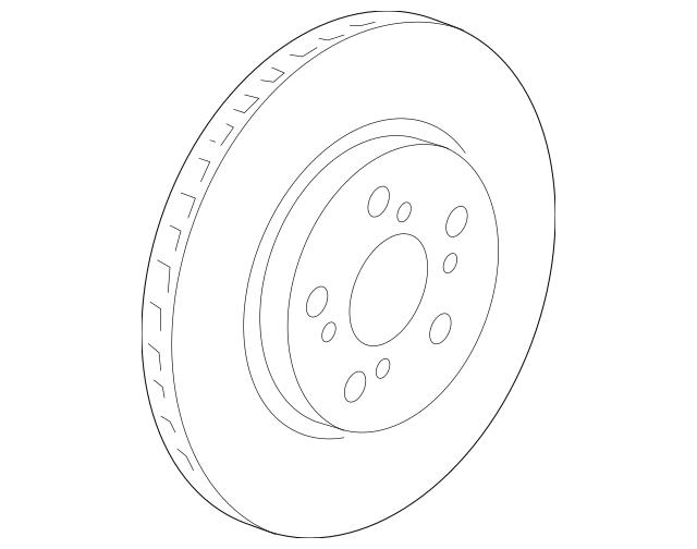 2005-2012 Acura RL SEDAN Disk, Front Brake 45251-SJA-903
